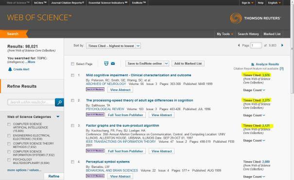 WebOfScience-ResultsScreen