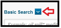 Basic search arrow
