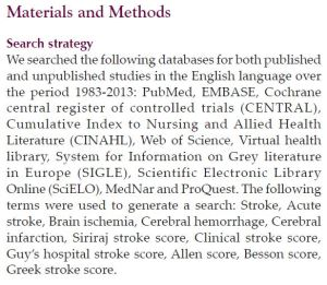 Systematic Review - Methods